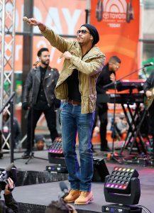 <> at the Rockefeller Plaza on April 27, 2015 in New York, New York.