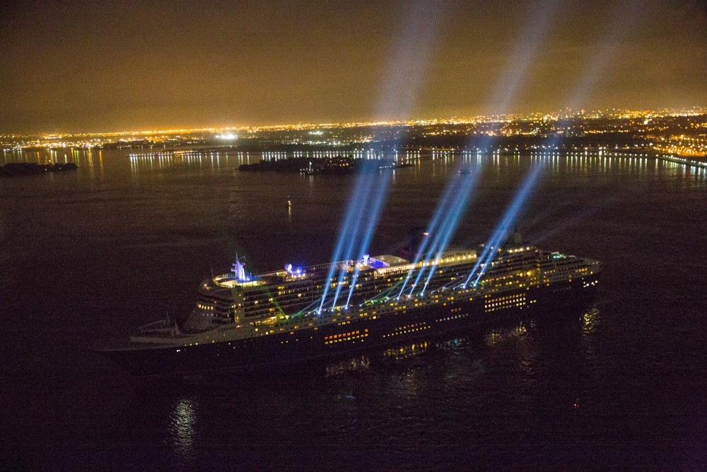 Queen Mary2 Arrives NYC Celebrates Cunard Line 175th